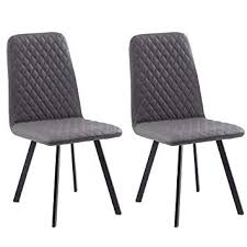 vine pu leather dining chair with padded diamond back and seat retro design sy metal legs