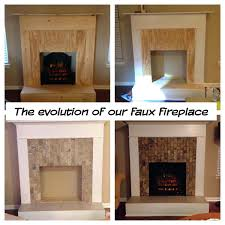 full image for faux fireplace wood trim tile electric log set heater logs no with