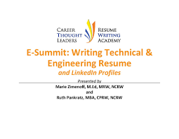 writing an engineering resumes e summit writing technology engineering resumes linkedin profiles
