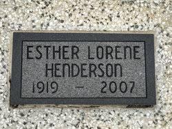 Esther Lorene Pugh Henderson (1919-2007) - Find A Grave Memorial