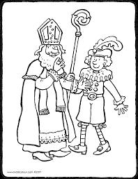 Sinterklaas En Zwarte Piet Kiddicolour
