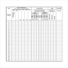 Medication Chart Template Free Download Sample Mood Chart Forms 7 Download Free Documents In Pdf