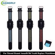 HANGRUI <b>Silicone Strap For Xiaomi</b> Huami Amazfit Bip BIT PACE ...