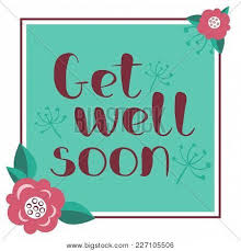 Get Well Soon Poster Get Well Soon Card Vector Photo Free Trial Bigstock