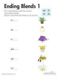 Ending Blends Worksheets First Grade   Homeshealth.info