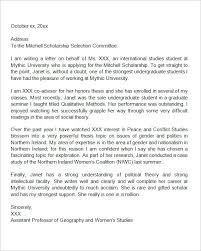Sample Scholarship Recommendation Letter Reference Letter For