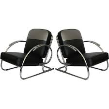 art moderne furniture. pair of streamline moderne art deco tubular chrome chairs united states 1930u0027s furniture