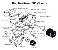 ho slot car racing life like rokar chassis repair parts and diagrams life like rokar m chassis diagram