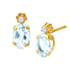 3 4 ct aquamarine earrings with diamonds
