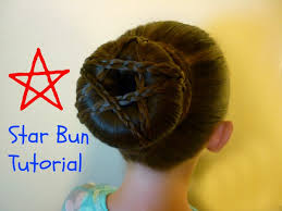 Fourth Of July Hairstyles Star Bun Hairstyle Youtube