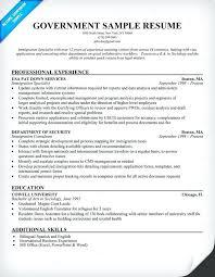 Government Resume Templates Gorgeous Government Resume Format Shalomhouseus