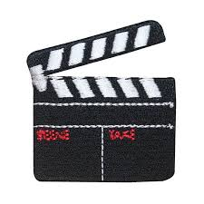 Film Id Embroidered Clapper Movie 3090 Board Patch Slate Iron Prop xqYZgqCwU