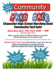 Chancellor High School Marching Band Community Yard Sale