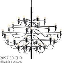 flos 2097 30 chr wire hanging chandelier incandescent lamp chrome