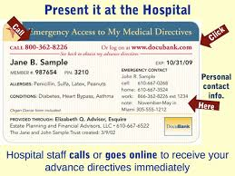 Sample Advance Directive Form New DocuBank Immediate Access To Healthcare Directives Emergency