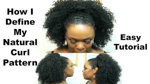Curl Patterns Fascinating HOW I DEFINE MY NATURAL HAIR CURL PATTERN My Work Look With A La