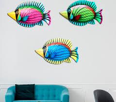 metal fish wall hanging art sculpture