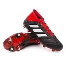 football boots adidas predator 18 1 sg leather core black white red tienda de fútbol fútbol emotion