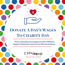 Image result for donate a day's wages to charity