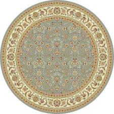 lyndhurst light blue ivory 7 ft x 7 ft round area rug