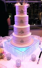 personalized glass cake stand wedding tall