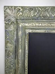 extra large chalkboard ornate wood frame custom chic wedding frame french european design large framed hand painted aged distressed