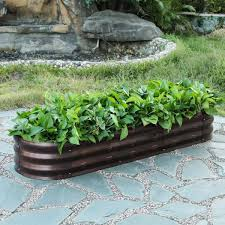 luxenhome metal oval garden bed whpl431