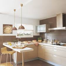 Kitchen:Astounding Small Rustic Kitchen Design With Mini Bar And Brown  Stool Decoration small kitchen