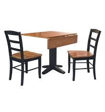 36 Inch Square Dropleaf Dining Table Burr39s Unfinished Black Wood