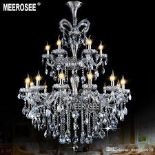 luxurious light blue maria theresa large crystal chandelier light crystal lighting fitting res pendentes 18 lamps chandeliers black chandelier from