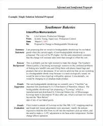Memo Proposal Format Informal Business Proposal Sample Business Proposal Examples
