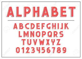 Alphabet Letter Font And Abc Letters Print Typography Illustration