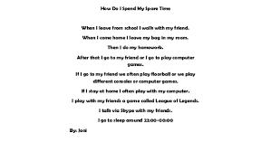 My last weekend essay