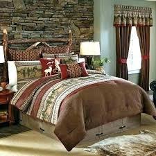 cabin comforter sets extraordinary lodge comforter set stag rustic bedding set deer sets cabin king size