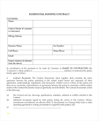 sample roofing contract roofing contract template awesome 28 contract templates free sample