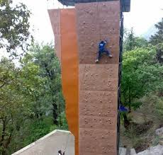 artificial wall climbing on artificial rock climbing wall in pune with artificial wall climbing cleartrip