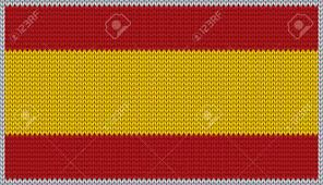 Spanish Fabric Designs Design Of Knitted Badge Of Spain Es Esp Flag National Spanish