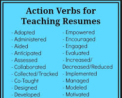 resume power verbs free resume templates