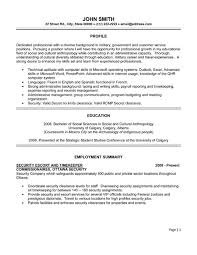 Security Escort Timekeeper Resume Sample & Template