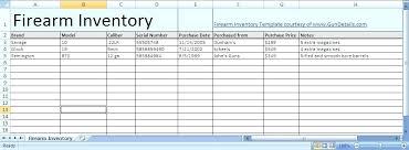 Free Excel Inventory Template Gun Inventory Spreadsheet Newgambit Club