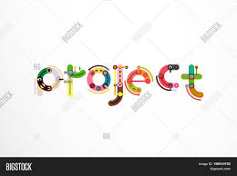 Project Word Design Project Word Letter Image Photo Free Trial Bigstock