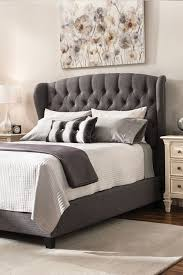 Add style to your bedroom with this Begley queen bed. The frame is ...