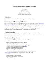 Legal Secretary Resume Samples Resume For A Restaurant Manager