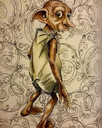 Harrypottercoloringbook Adultcoloring Dobby