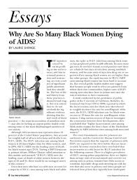 edition simplebooklet com essays why are so many black women dying of aids by laurie shrage t he injustices