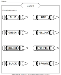 color worksheets for kids. Delighful For Color The Crayons On Worksheets For Kids G