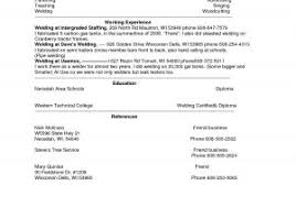Welder Resume Objective Sample Of Objective For Resume Welder Ideas ...