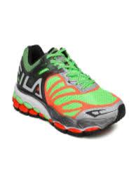 fila running shoes orange. buy fila men fluorescent green \u0026 neon orange ziwwi running shoes - sports for | myntra fila n