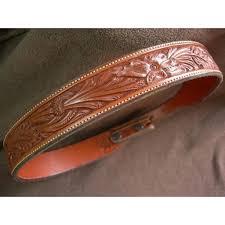 seidels hand tooled leather belt for ranger belt buckle set j j of tucson ruby lane