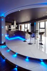 house led lighting.  Lighting Kitchen Ultra Modern Kitchen Concepts With Beautiful Led Lighting In Blue  Color Choice Decorating Flower And Under Island Area Throughout House E